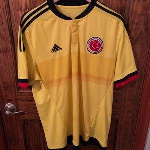Adidas Columbia Yellow Soccer Jersey